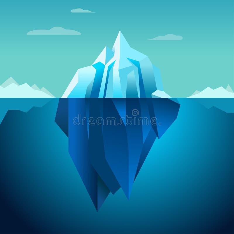 Iceberg blu di vettore del fondo illustrazione di stock