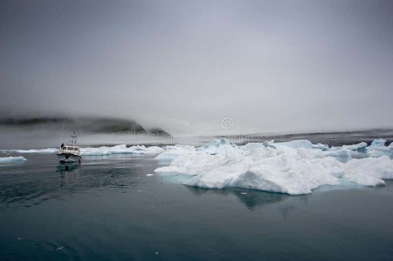 Iceberg blu in Groenlandia fotografia stock