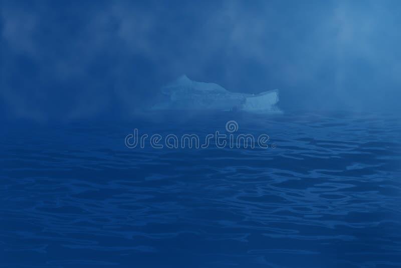 Iceberg che va alla deriva nell'oceano illustrazione di stock