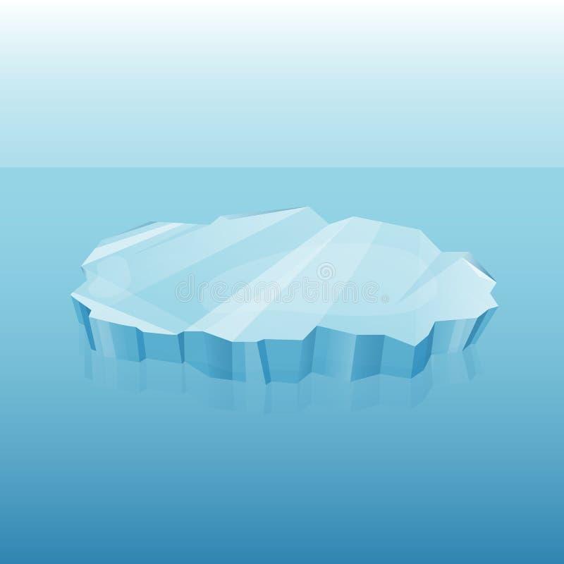 Iceberg con la trasparenza in oceano illustrazione vettoriale