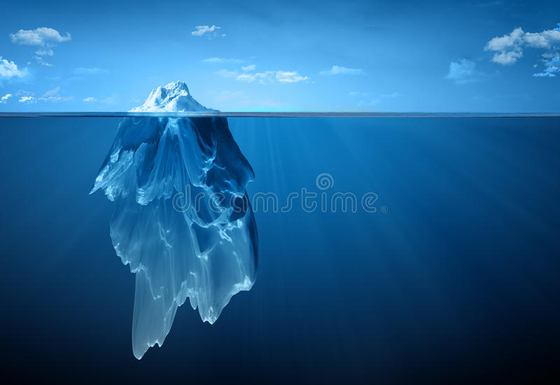 Iceberg royalty free illustration