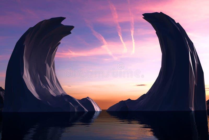 Iceberg congelado das asas ilustração do vetor