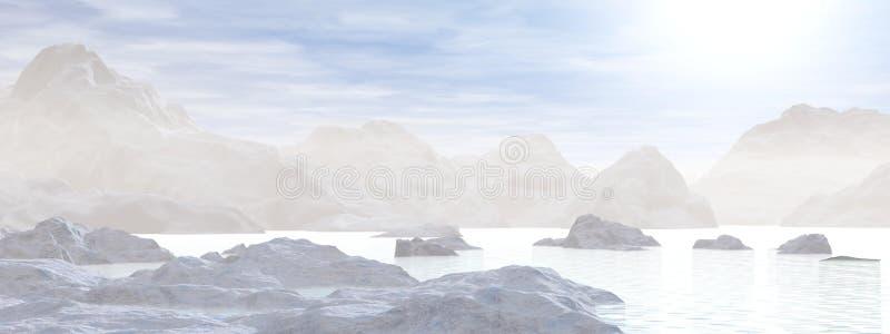 Iceberg - 3D rendono illustrazione vettoriale