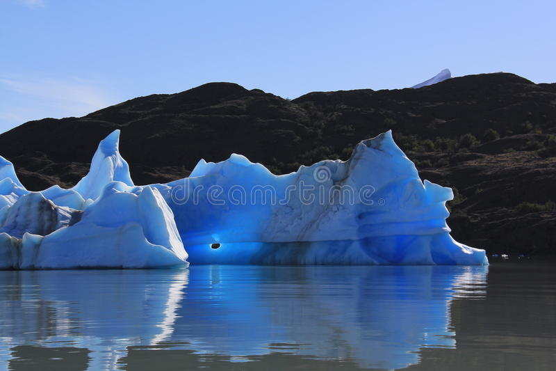 Iceberg dal upsala fotografie stock libere da diritti