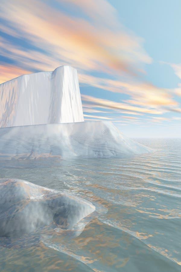 Iceberg de Continente antárctico ilustração royalty free