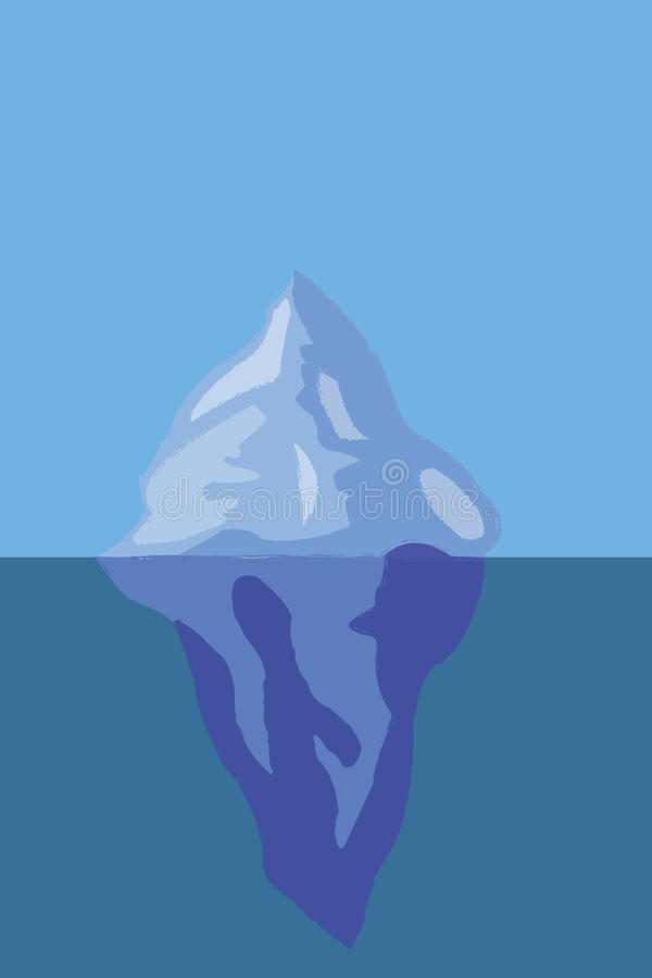 Iceberg de hielo ilustración del vector