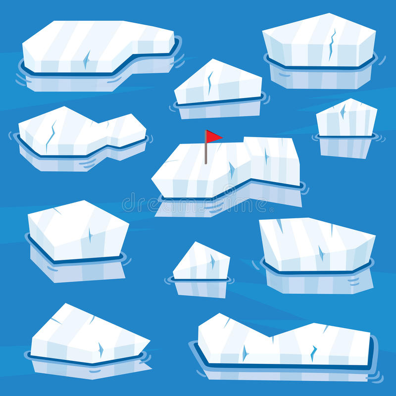 Iceberg del fumetto messi Illustrazione di vettore illustrazione vettoriale