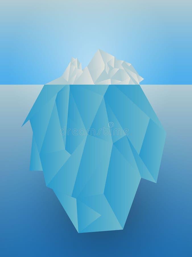 Iceberg del vector en el mar ilustración del vector