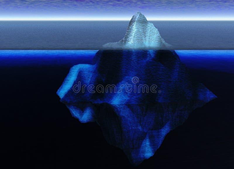 Iceberg di galleggiamento nell'oceano aperto illustrazione di stock