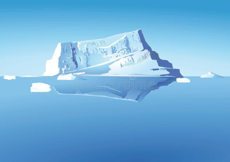 Iceberg en el mar stock de ilustración