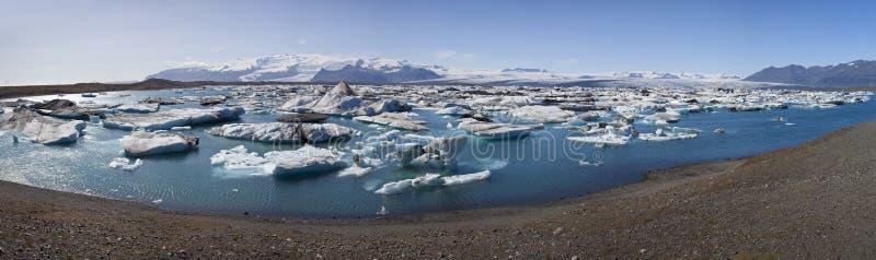 Iceberg Filled Lagoon, Jokulsarlon, Iceland royalty free stock images