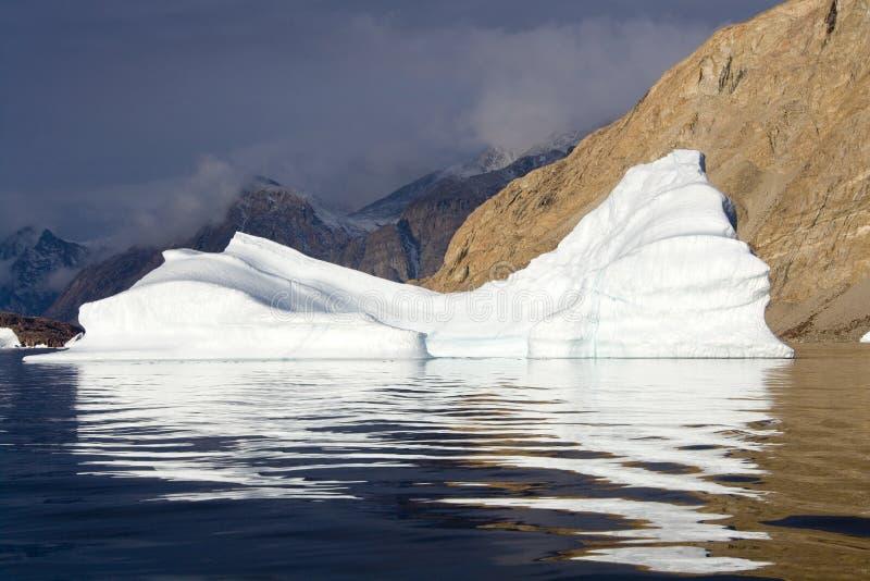 Iceberg - fiordo di nord-ovest - la Groenlandia fotografia stock