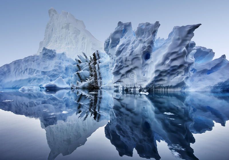 Iceberg floating in greenland fjord.  royalty free stock photo