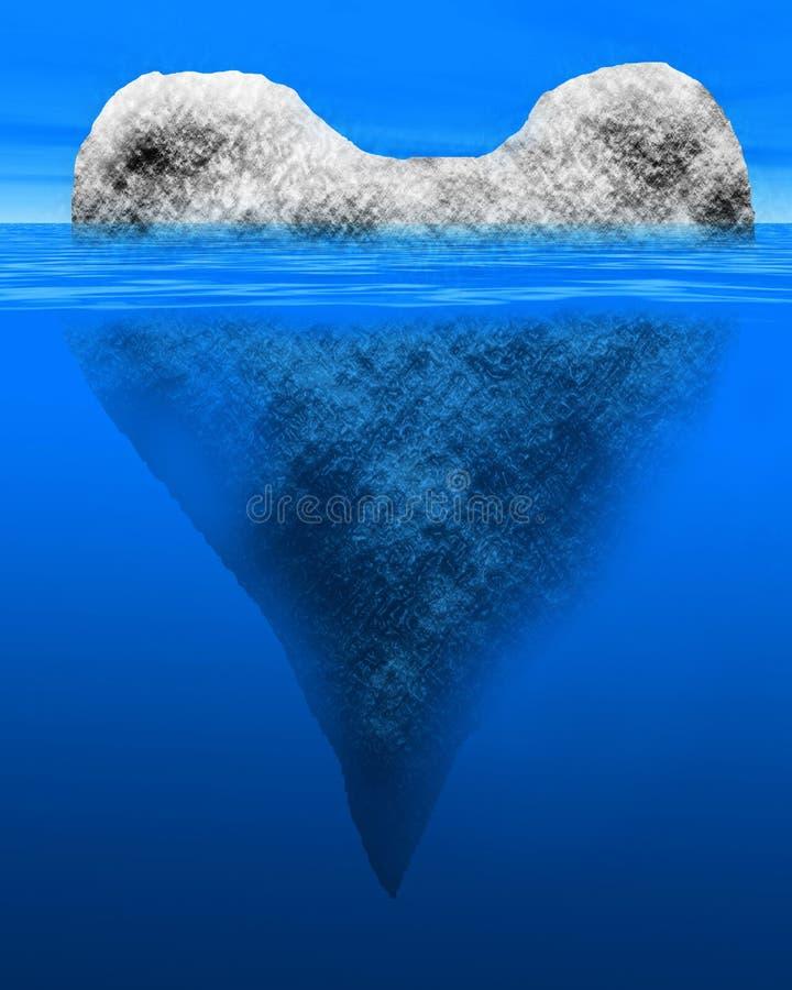 Iceberg a forma di del cuore illustrazione di stock