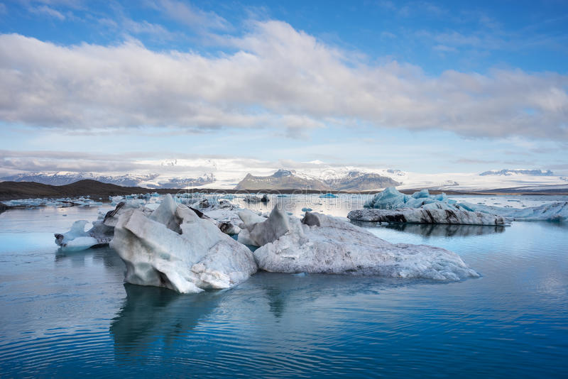 Iceberg in the glacial lagoon Jokulsarlon, Iceland. Landscape of Iceland, Europe. Iceberg in the glacial lagoon, located in the southeastern part of the island royalty free stock image