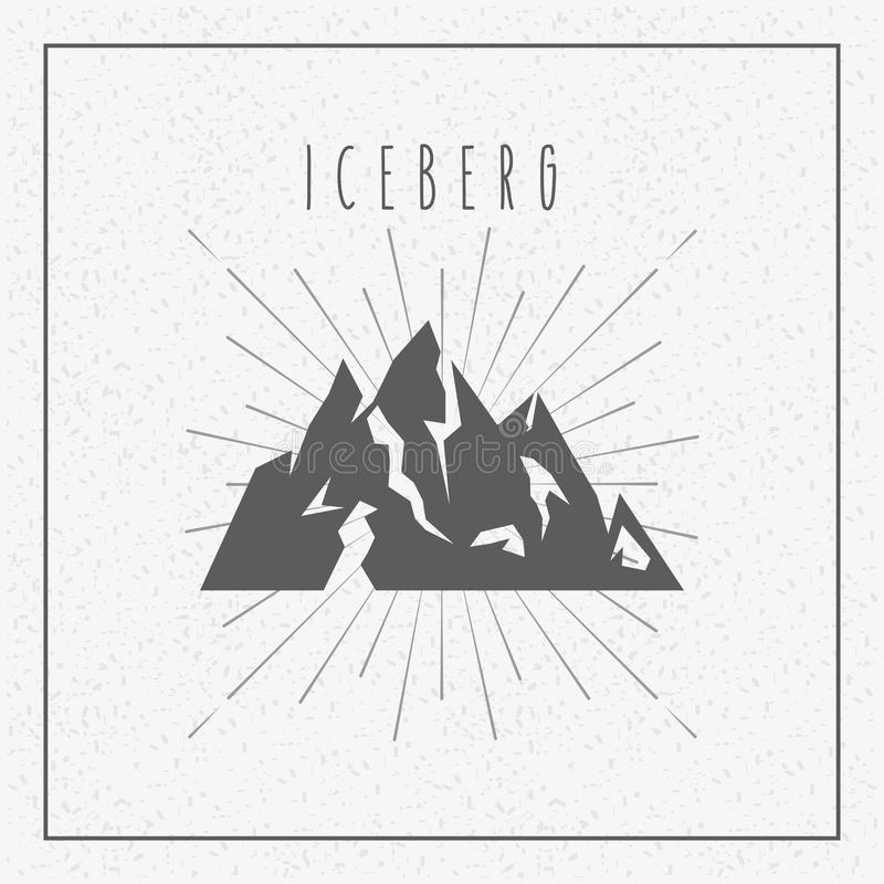 Iceberg glacier design. Illustration eps10 graphic vector illustration