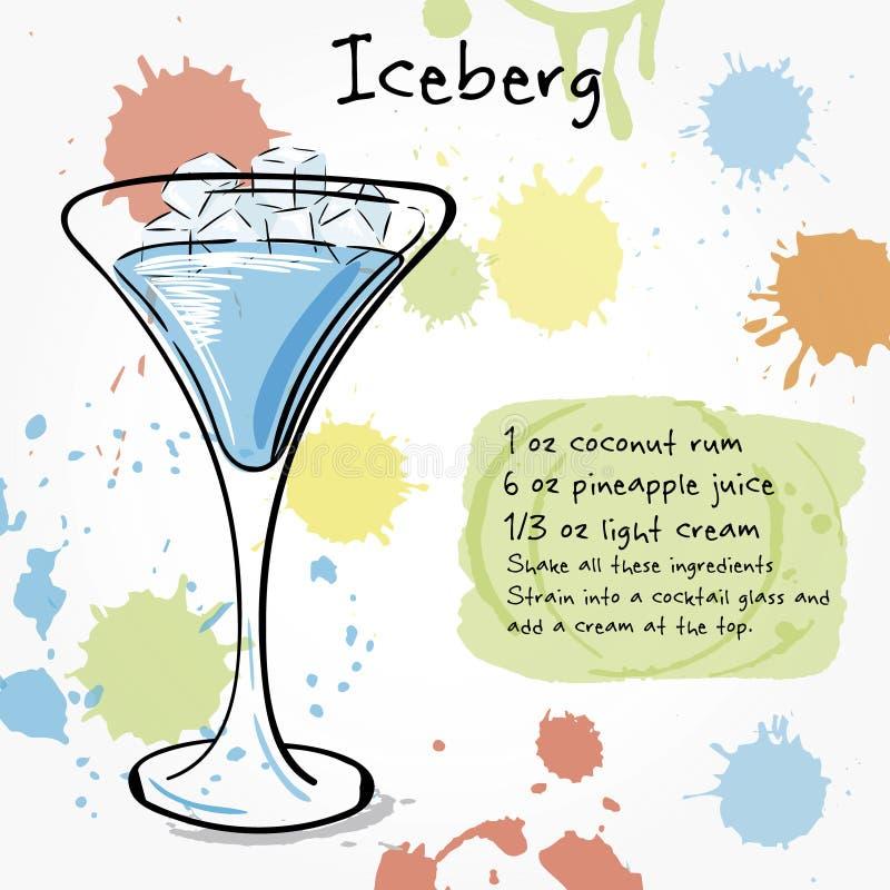 iceberg Illustrazione disegnata a mano del cocktai royalty illustrazione gratis