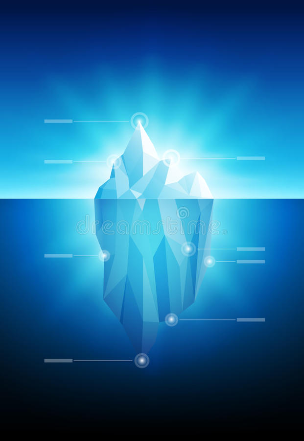Iceberg infographic stock illustration