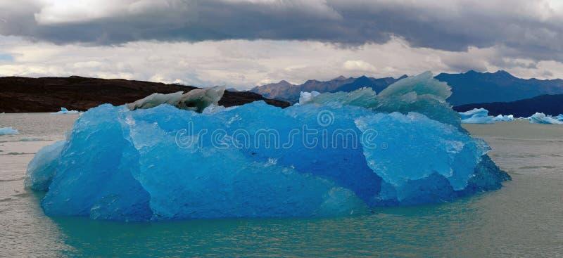 Iceberg in lake Argentino near Upsala glacier. stock image