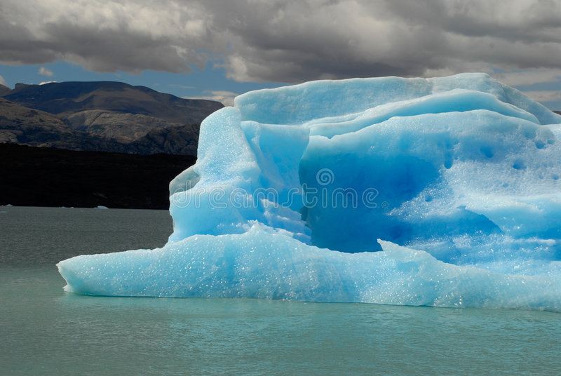 Iceberg in lake Argentino near Upsala glacier. royalty free stock photography