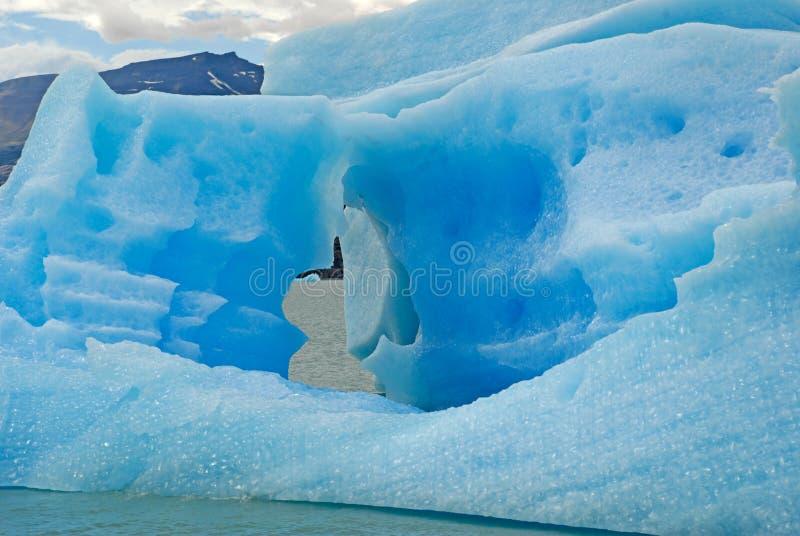 Iceberg in lake Argentino near Upsala glacier. royalty free stock images
