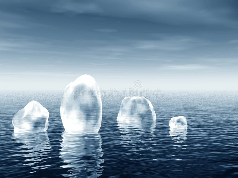 Iceberg in mare royalty illustrazione gratis