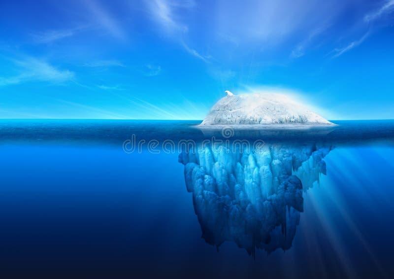 Iceberg naturale con l'orso polare immagini stock