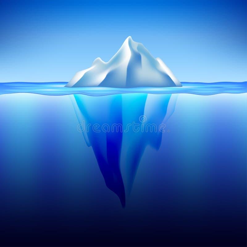 Iceberg nel fondo di vettore dell'acqua royalty illustrazione gratis