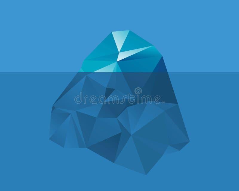 Iceberg nell'acqua illustrazione vettoriale