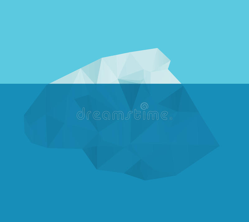 Iceberg nell'acqua illustrazione di stock