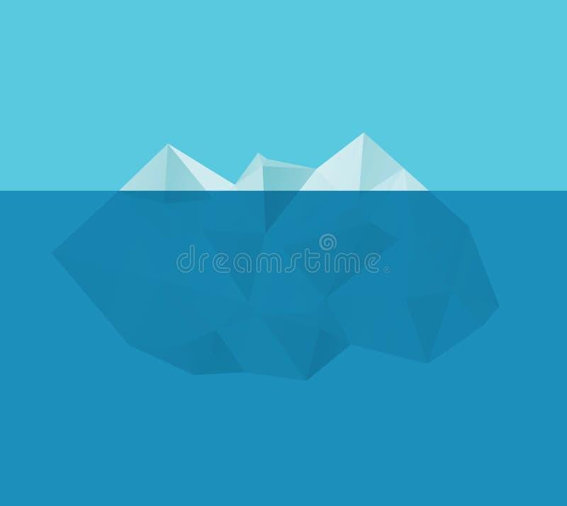 Iceberg nell'acqua royalty illustrazione gratis
