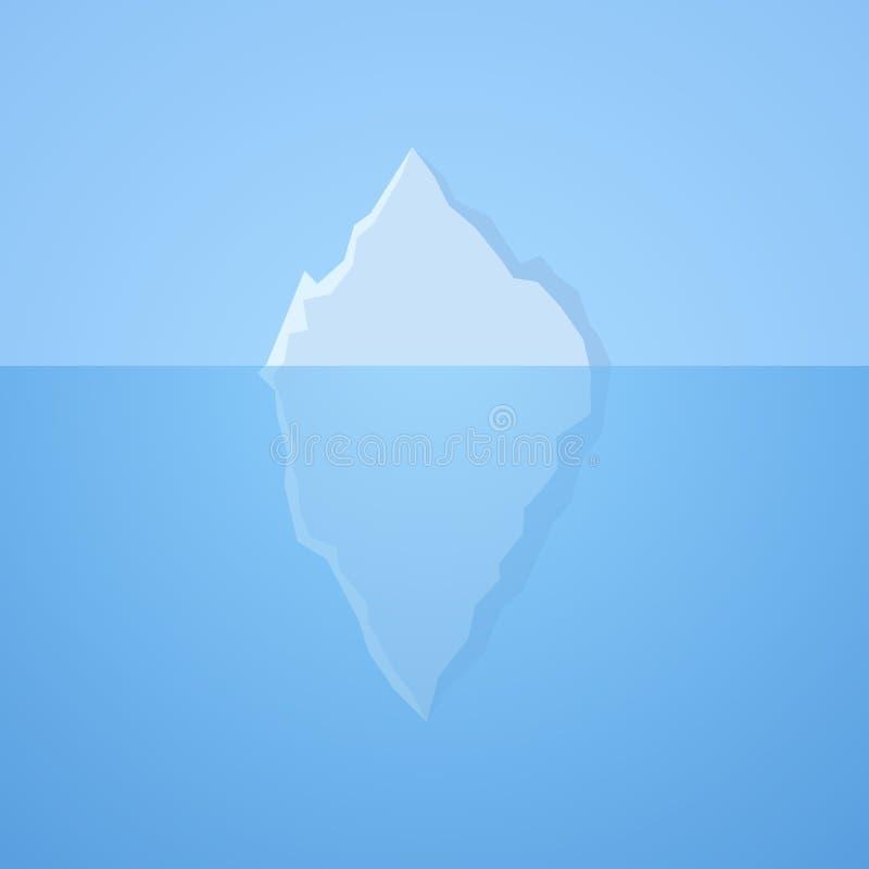 Iceberg nell'oceano royalty illustrazione gratis