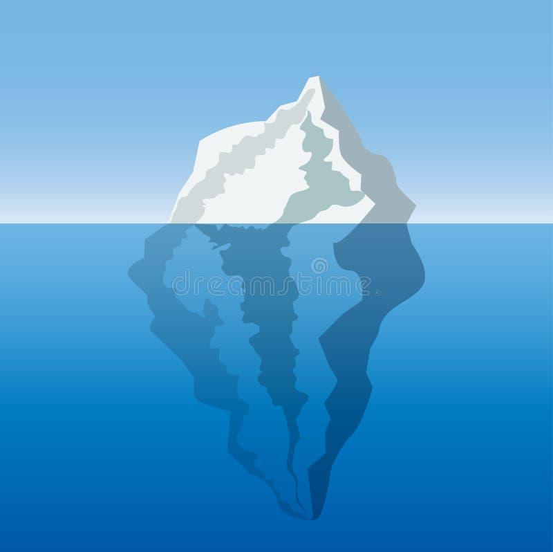 Iceberg nell'oceano illustrazione vettoriale