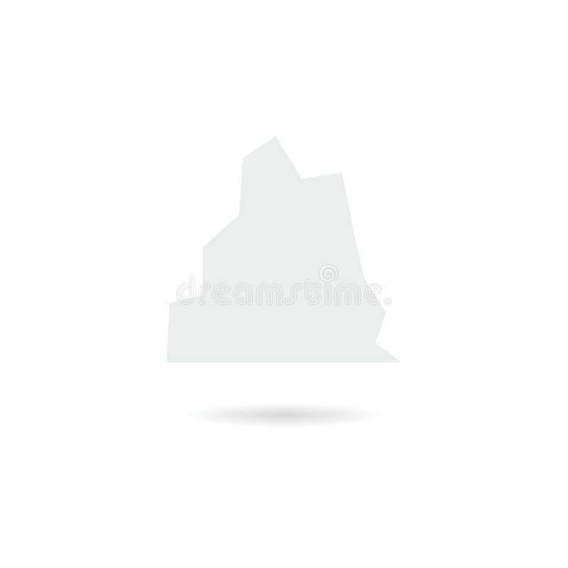 Iceberg nero che galleggia nell'icona o nel logo dell'oceano illustrazione vettoriale