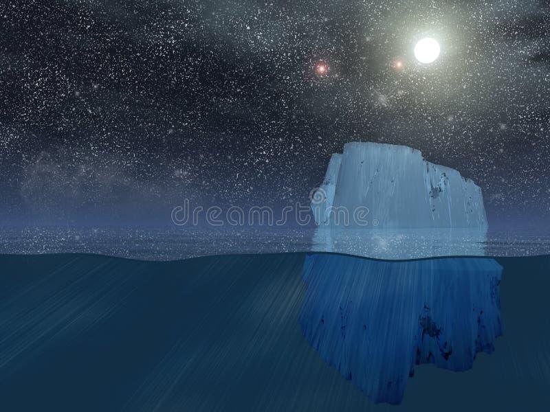 Download Iceberg at night stock illustration. Illustration of antarctic - 16617241