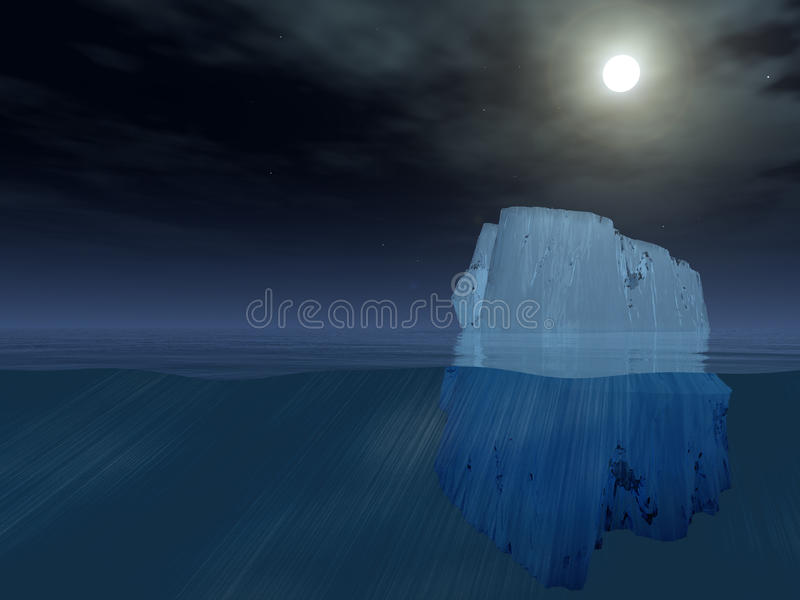 Download Iceberg at night stock illustration. Image of ocean, natural - 19696720
