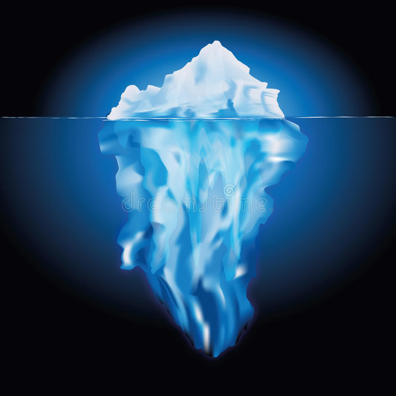 Iceberg no mar ilustração do vetor