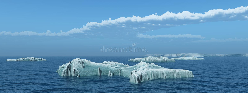 Iceberg no mar aberto ilustração royalty free