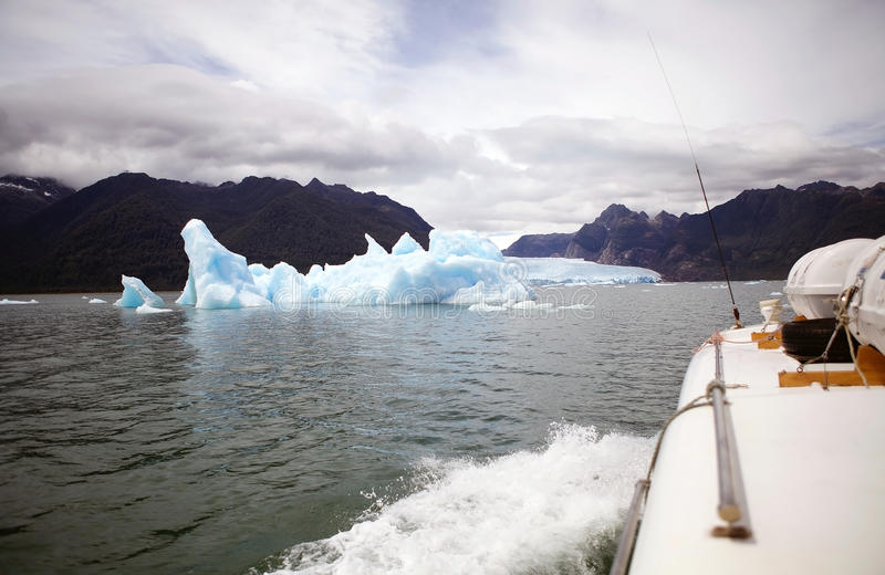 Iceberg no San Rafael Lagoon, Patagonia, o Chile foto de stock royalty free