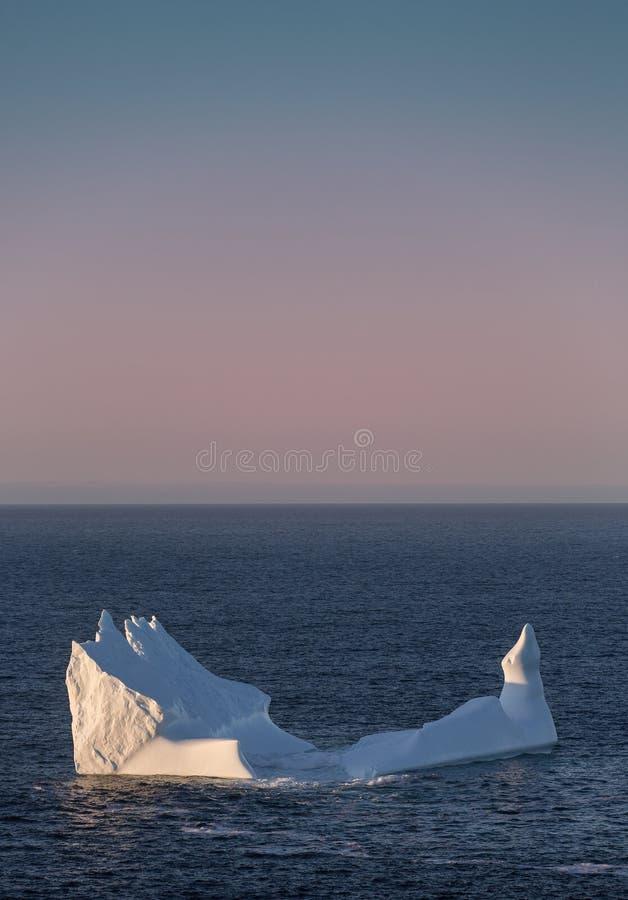 Iceberg outre de la côte de Terre-Neuve et de Labrador photos libres de droits