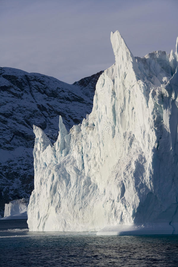 Iceberg in Scoresbysund in Greenland royalty free stock photography