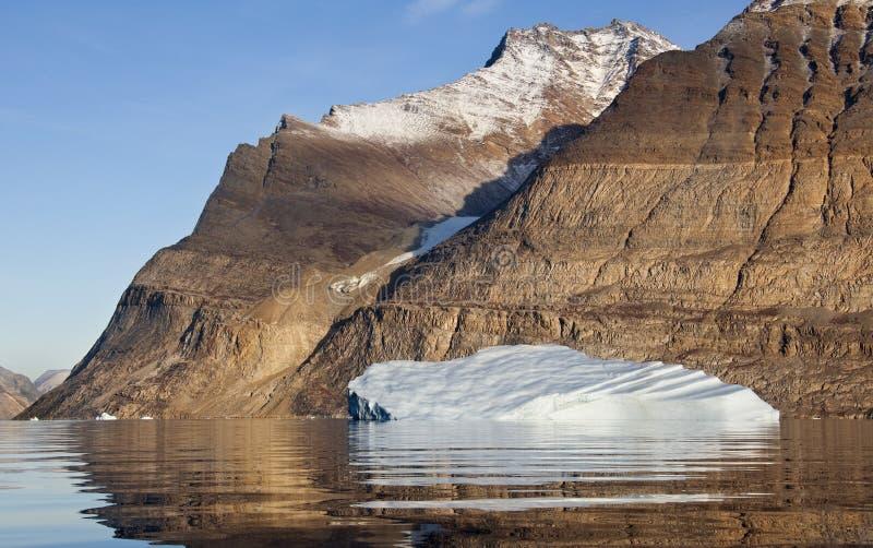 Iceberg in Scoresbysund in Greenland royalty free stock photo
