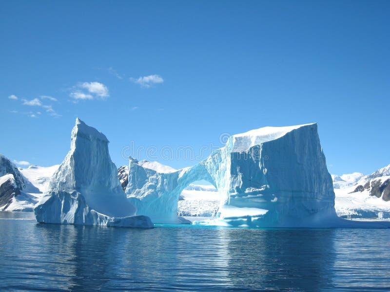 Iceberg sculpture. Beautiful ice sculptures in Antarctic waters, Vernadsky