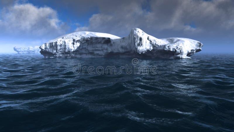 Iceberg on sea stock photography