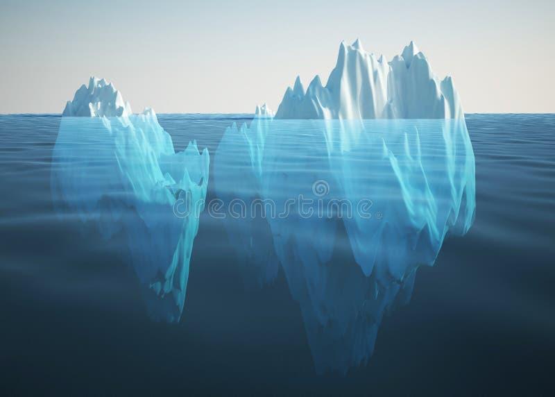 Iceberg solitario en el mar libre illustration