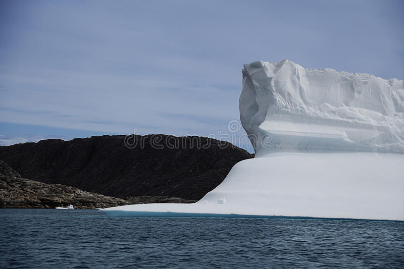 The iceberg. Iceberg in the south coast of greenland royalty free stock images
