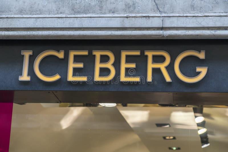 Iceberg store logo stock photography