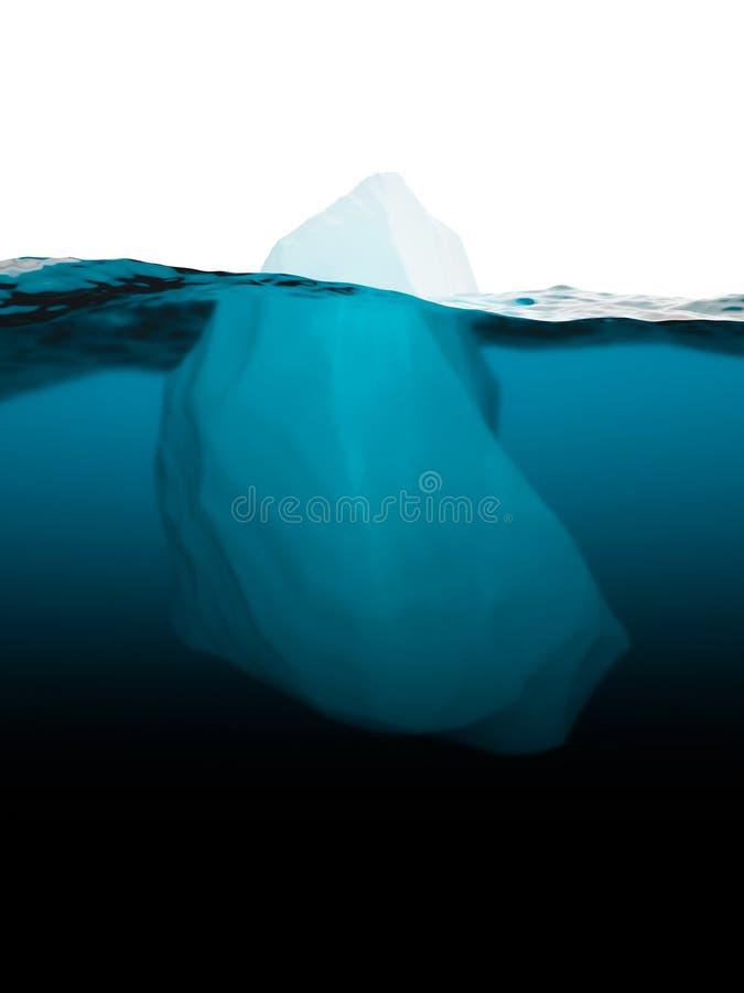 Iceberg sulla superficie dell'acqua royalty illustrazione gratis