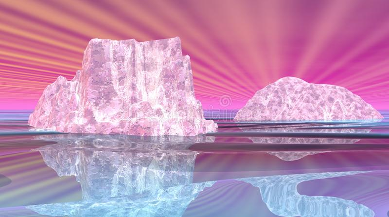 Iceberg surrealisti royalty illustrazione gratis
