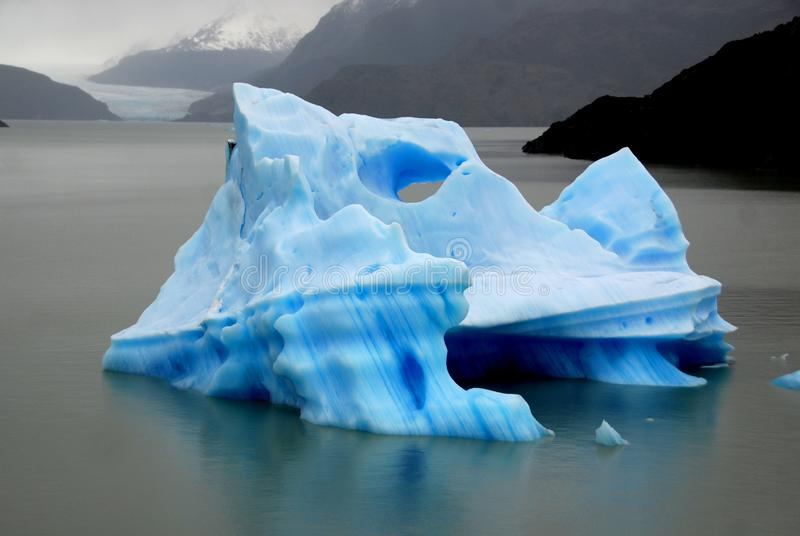 Iceberg, Torres del Paine, Chili royalty free stock images